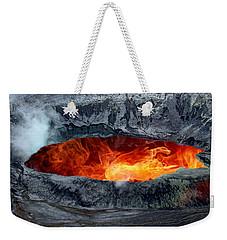 Volcanic Eruption Weekender Tote Bag