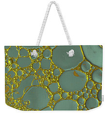 Volcanic Turquoise Gold Weekender Tote Bag