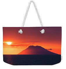 Volcano At Sea Weekender Tote Bag