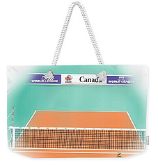 Weekender Tote Bag featuring the digital art Volleyball Court by Darren Cannell