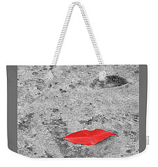 Weekender Tote Bag featuring the photograph Voluminous Lips by Dale Kincaid