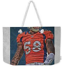 Von Miller Denver Broncos Art 1 Weekender Tote Bag
