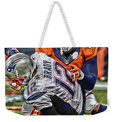 Von Miller Denver Broncos Art Weekender Tote Bag