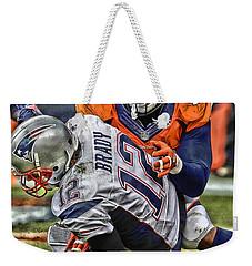 Von Miller Denver Broncos Art Weekender Tote Bag by Joe Hamilton