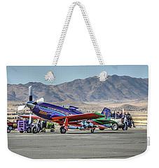 Voodoo Engine Start Sunday Gold Unlimited Reno Air Races Weekender Tote Bag