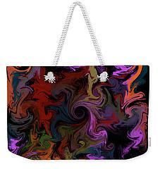 Weekender Tote Bag featuring the digital art Vortex One by Iowan Stone-Flowers