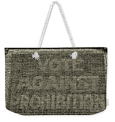 Weekender Tote Bag featuring the photograph Vote Against Prohibition 1 by Paul Ward