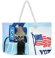 Voting Booth 2008 Weekender Tote Bag by Candace Lovely