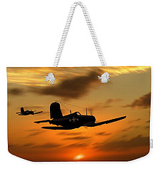 Vought Corsairs At Sunset Weekender Tote Bag