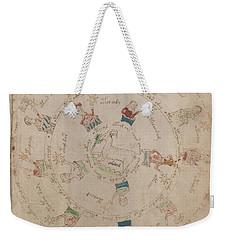 Voynich Manuscript Astro Aries Weekender Tote Bag