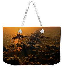 Vulcan Bomber Sunset Weekender Tote Bag