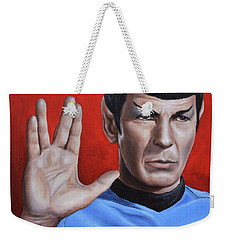 Weekender Tote Bag featuring the painting Vulcan Farewell by Kim Lockman