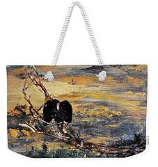 Vulture With Oncoming Storm Weekender Tote Bag