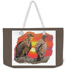 Vultures At Sunset Weekender Tote Bag