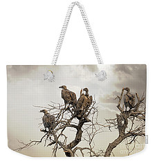 Vultures In A Dead Tree.  Weekender Tote Bag by Jane Rix