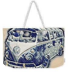 Vw Camper Van Waves Weekender Tote Bag