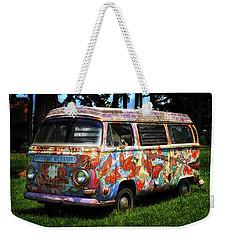 Vw Psychedelic Microbus Weekender Tote Bag