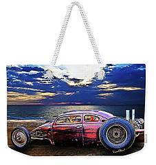 Rat Rod Surf Monster At The Shore Weekender Tote Bag