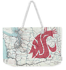 W S U Cougar Country Map Weekender Tote Bag