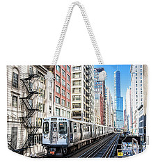 The Wabash L Train Weekender Tote Bag