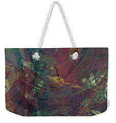 Wabi-sabi Ikebana Remix Illuminated Purple And Green Weekender Tote Bag