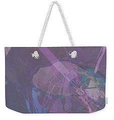 Wabi-sabi Ikebana Remix In Purple And Blue Weekender Tote Bag