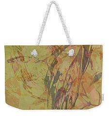 Wabi Sabi Ikebana Rose On Yellow Green Weekender Tote Bag
