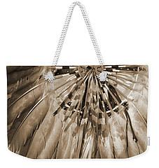 Wacipi Dancer In Sepia Weekender Tote Bag by Heidi Hermes