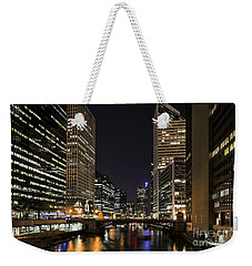 Weekender Tote Bag featuring the photograph Wacker Avenue by Andrea Silies