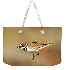 Wading Killdeer Weekender Tote Bag by Donna Kennedy