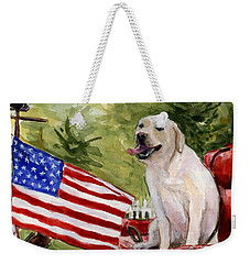 Wag The Flag Weekender Tote Bag by Molly Poole