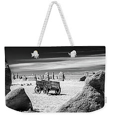 Wagon At Fort Union Weekender Tote Bag by James Barber