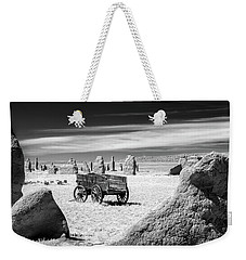 Wagon At Fort Union Weekender Tote Bag