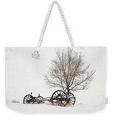 Wagon In The Snow Weekender Tote Bag