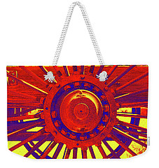 Wagon Wheel Weekender Tote Bag by Cynthia Powell