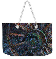 Weekender Tote Bag featuring the digital art Wagon Wheel by Stuart Turnbull