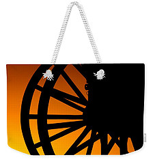 Wagon Wheel Sunset Weekender Tote Bag