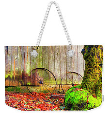 Wagon Wheels And Autumn Leaves Weekender Tote Bag