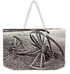 Wagon Wheels Monotone Weekender Tote Bag