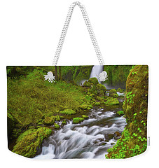 Weekender Tote Bag featuring the photograph Wahclella Falls by Darren White