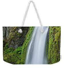 Weekender Tote Bag featuring the photograph Wahkeena Falls by Greg Nyquist