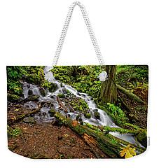 Weekender Tote Bag featuring the photograph Wahkeena Falls by Jonathan Davison