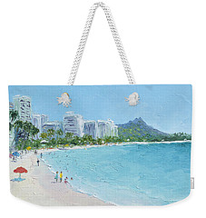 Waikiki Beach Honolulu Hawaii Weekender Tote Bag