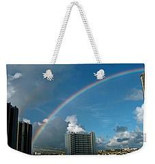 Waikiki Rainbow Weekender Tote Bag