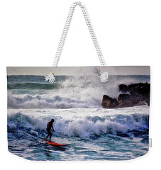 Waimea Bay Surfer Weekender Tote Bag by Jim Albritton