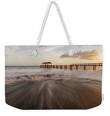 Weekender Tote Bag featuring the photograph Waimea Pier by Dustin LeFevre