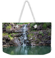 Waimea Waterfall Horizontal Weekender Tote Bag