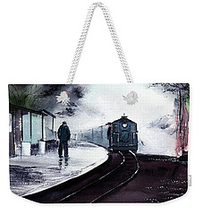 Weekender Tote Bag featuring the painting Waiting by Anil Nene