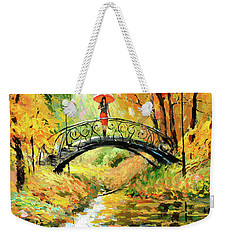 Weekender Tote Bag featuring the painting Waiting by Dmitry Spiros