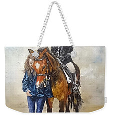 Waiting For Dressage Weekender Tote Bag